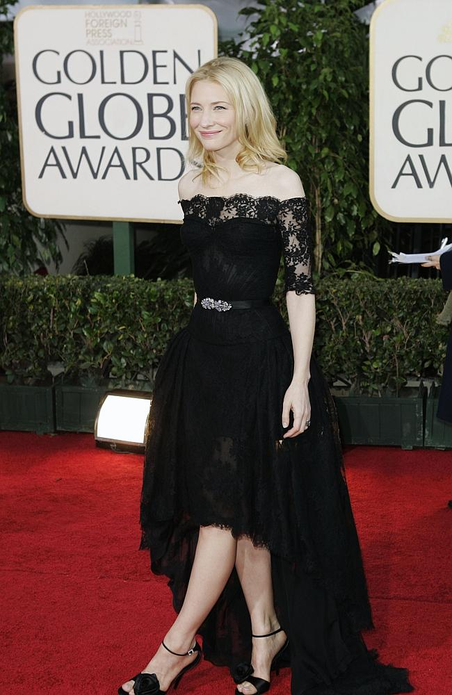 Cate Blanchett, arrives for the 64th Annual Golden Globe Awards 2007, in Beverly Hills, US. Source: AP