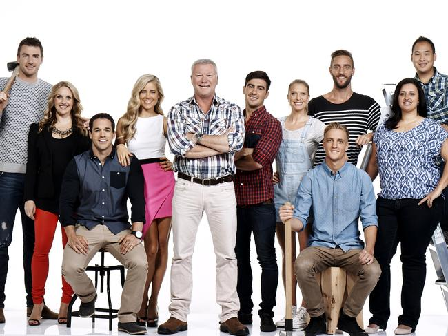 Playing the game: The Block Glasshouse contestants.