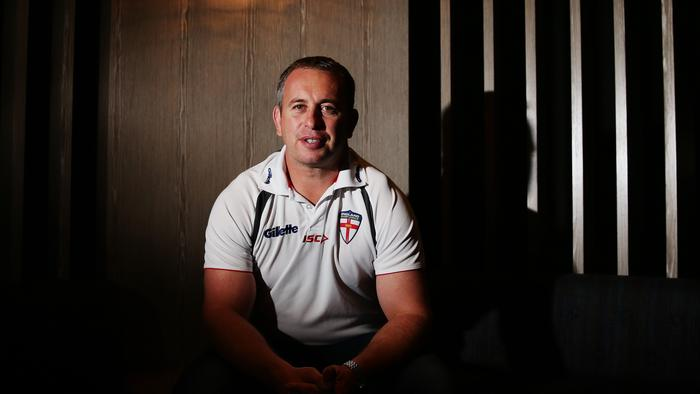 Great Britain rugby league coach Steve McNamara poses for a portrait at the Crowne Plaza hotel in Coogee, Sydney. Steve is here to discuss the upcoming World Cup with NRL based English players.
