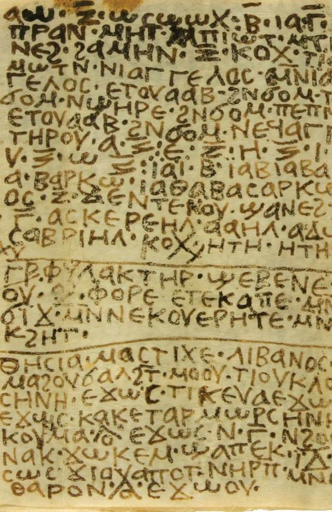 There's a spell for that ... The codex contains 27 spells for a variety of purposes, including love, revenge and business success. Source: Ms. Effy Alexakis/Macquarie University Ancient Cultures Research Centre