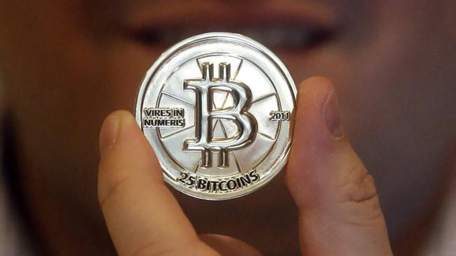 Of course in real life, your bitcoin is just a bunch of 1s and 0s. Picture: Rick Bowmer