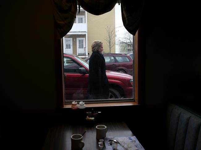 Democratic presidential candidate former Secretary of State Hillary Clinton in Manchester, New Hampshire. Picture: AFP
