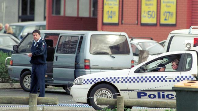 Infamous underworld figure Jason Moran and Past Barbaro were gunned down in Essendon in 2003.