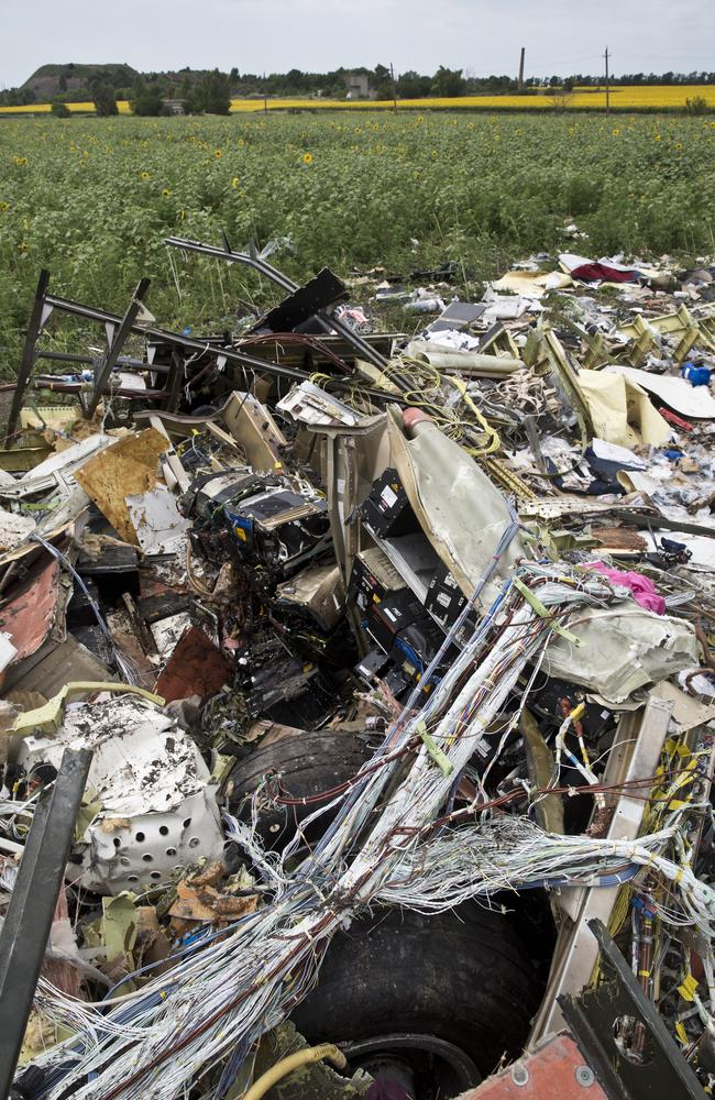Tangled web ... The war of words between Russia and the West over the remains of Malaysia Airlines Flight MH17 continues. Picture: Ella Pellegrini
