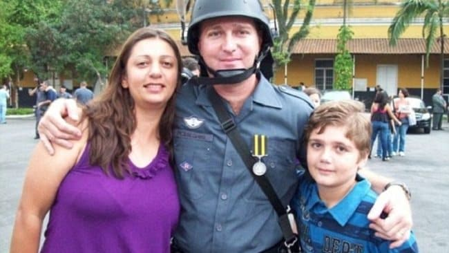 Thirteen-year-old Marcelo Pesseghini with his parents Luiz and Andreia, whom he is believed to have killed before taking his own life.