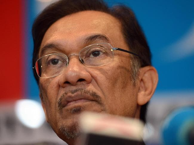 Captain Zaharie was said to have been an admirer of politician Anwar Ibrahim, who was jailed on sodomy charges weeks before MH370 vanished. Picture: AFP