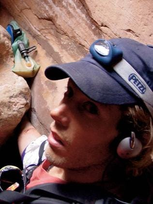 The real Aron Ralston.