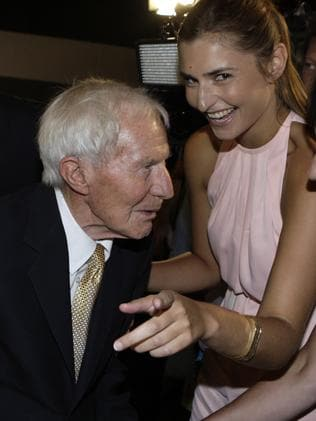 Mr Abbott with his granddaughter Frances.