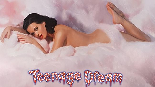 Katy Perry, butt-naked on a cloud. Picture: Supplied