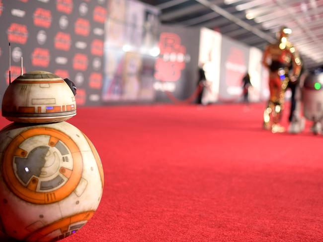 BB-8 hits the red carpet at the premiere of  <i>Star Wars: The Last Jedi </i>in Los Angeles. Picture: Getty
