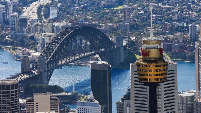 Sydney Tower boasts stunning views of the harbour but was today the scene of tragedy.
