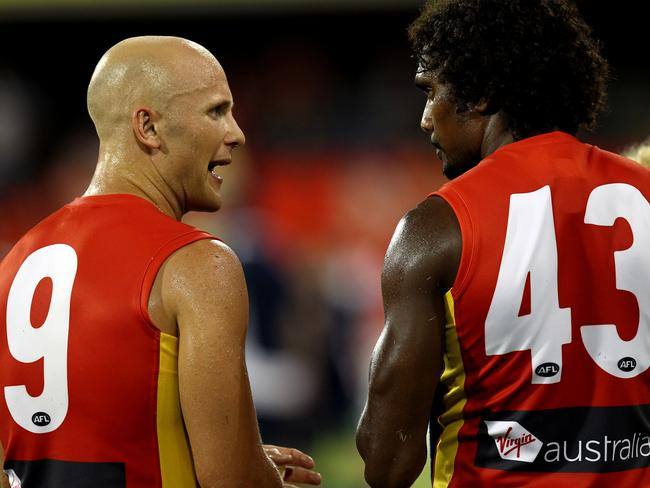 Gary Ablett Jr (left) opted not to wear the No. 5 of his legendary father.