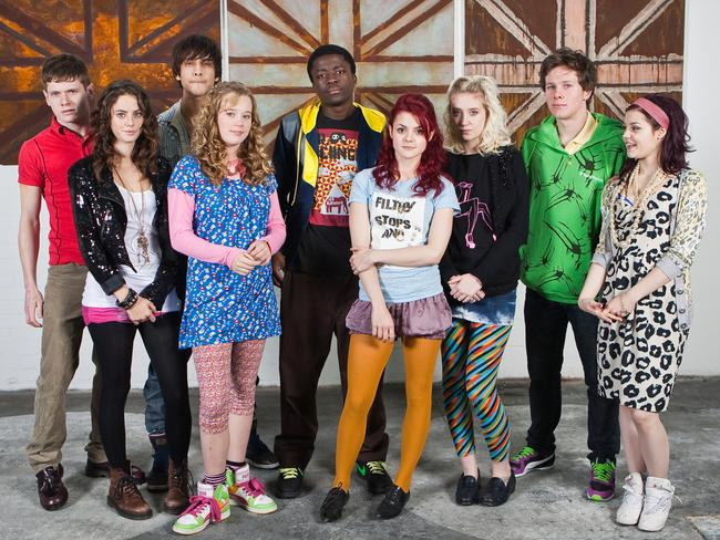 Skins ... The UK series is shown in Australia on SBS