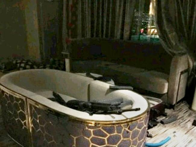 Inside the room where Stephen Paddock stayed. Picture: Supplied