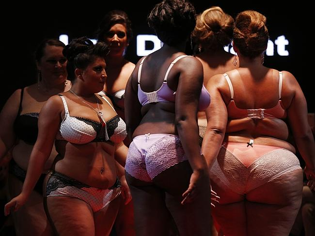 """Models present creations by """"La belle affranchie"""" during the first Pulp fashion week."""