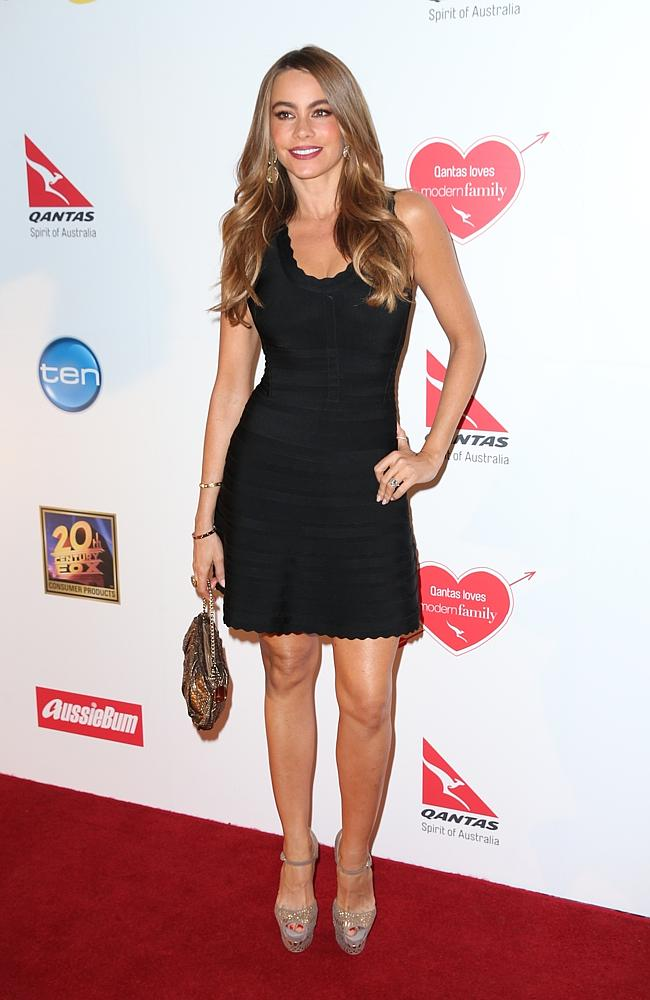 Sofia Vergara at the Modern Family Qantas Party held at the Pier One Hotel in Walsh Bay. Photo: Richard Dobson