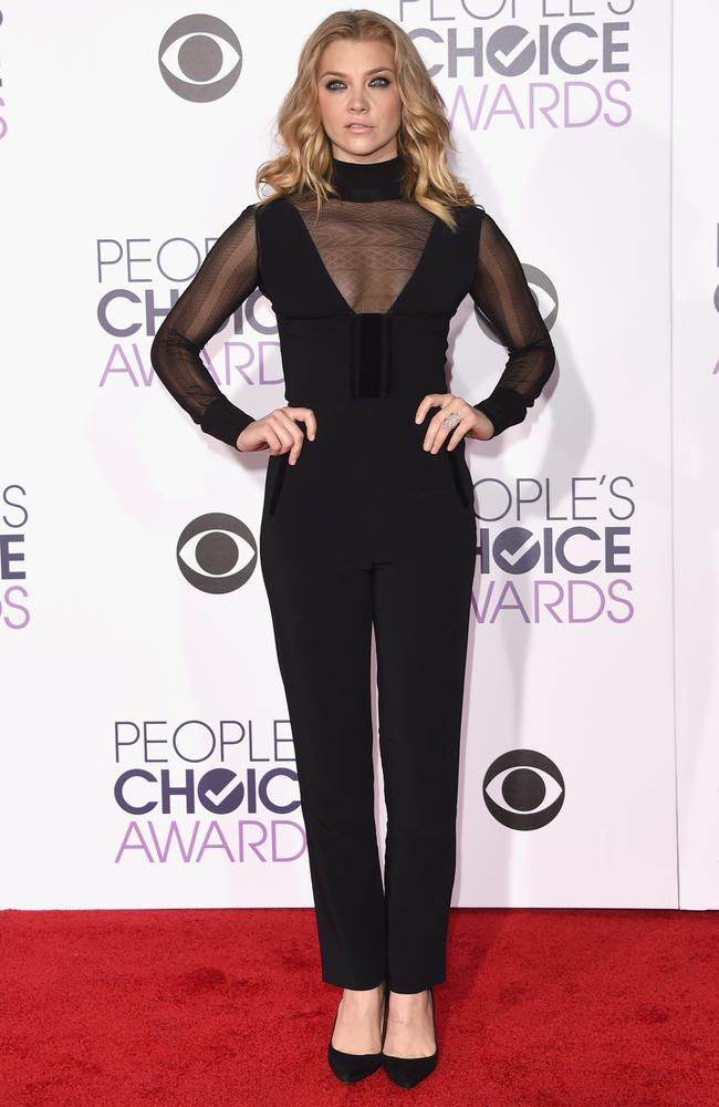 Natalie Dormer attends the People's Choice Awards 2016. Picture: Jason Merritt/Getty Images/AFP
