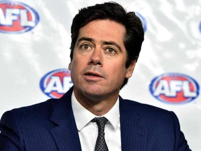 "AFL CEO Gillon McLachlan warmly welcomed the support from Prince Charles as a ""huge honour"". Picture: AAP/Julian Smith"