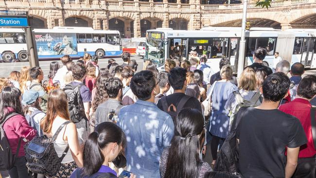 Buses are likely to be busy if the trains stop. Picture: AAP/Image Matthew Vasilescu
