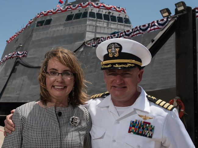 Dynamic duo ... Former US Congresswoman Gabrielle Giffords of Arizona and husband retired US Navy Captain Mark Kelly. Picture: Supplied