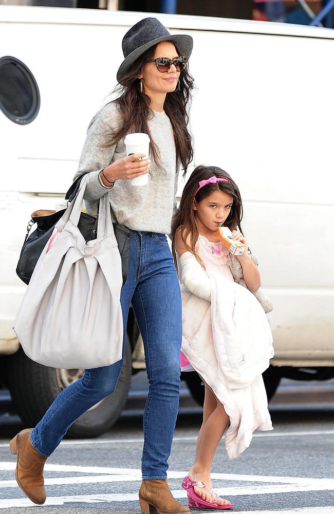 Family time: Fellow single parent Katie Holmes seems to love spending time with her daughter Suri. Photo by Alo Ceballos/FilmMagic