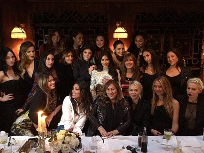 Kim Kardashian posted this picture to her Instagram page with the caption: I'm so lucky! I have the best friends in the whole wide world! #ParisNights #LastSupper Picture: Instagram
