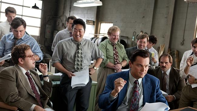Jonah Hill and Leonardo DiCaprio in The Wolf of Wall Street - the first major film to get a digital only release.