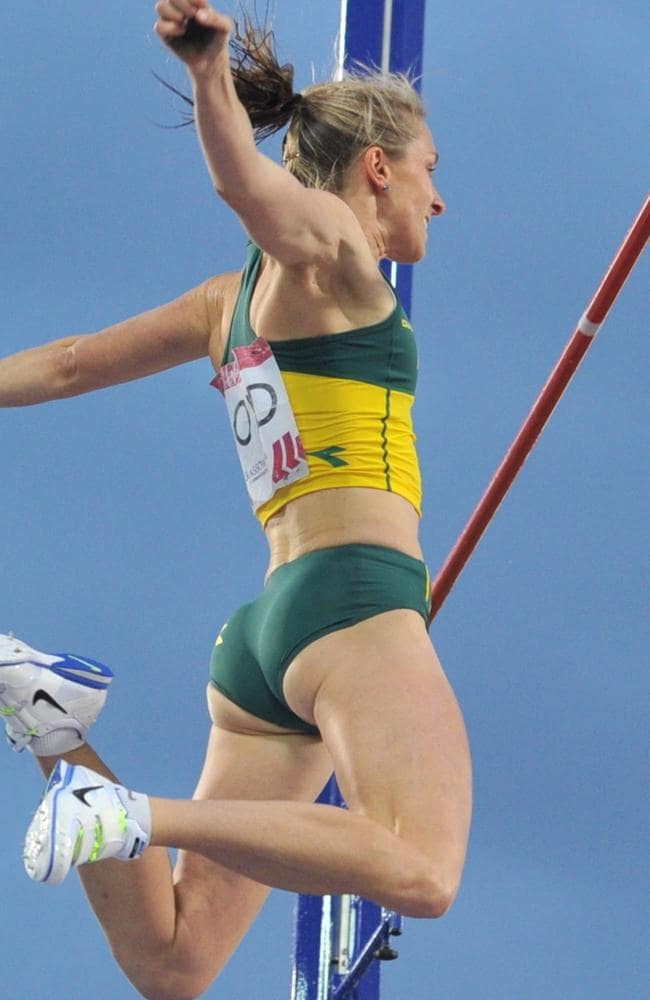 Australia's Alana Boyd on her way to victory in the pole vault.