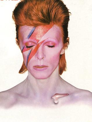 1973 ... the album cover of Aladdin Sane by singer David Bowie.