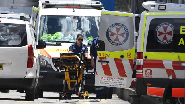 A third man was freed and taken to Westmead Hospital. Picture: AAP