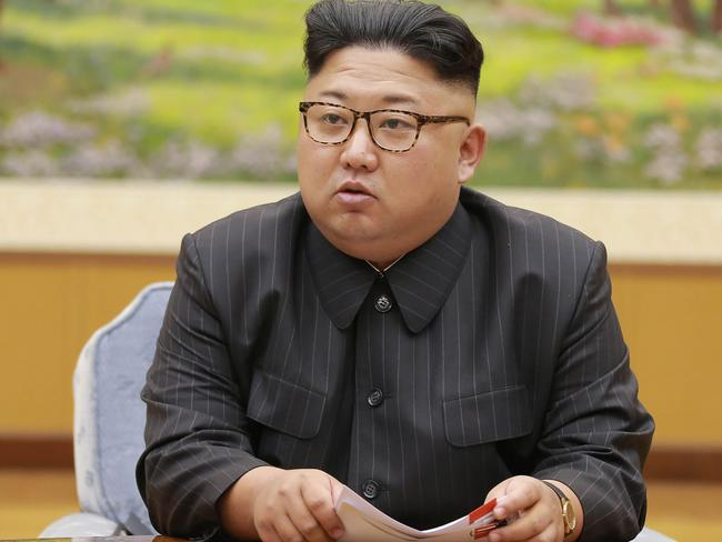 Kim Jong Un has defied leaders to continue testing nuclear weapons and intercontinental ballistic missiles. There are fears he could soon have one capable of hitting the US. Picture: KCNA.