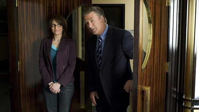 "Tina Fey and Alec Baldwin in ""30 Rock"""