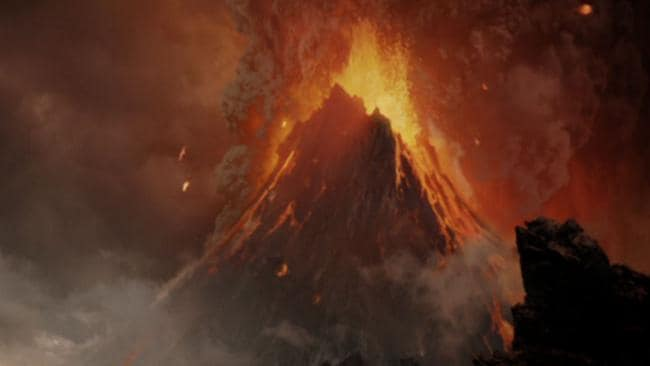 Mount Doom erupts in the final Lord of the Rings film, The Return of the King.