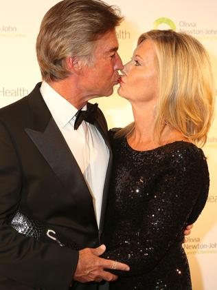 John Easterling and wife Olivia Newton John. Picture: Supplied