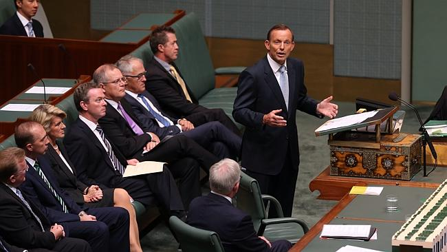 New outlook ... Prime Minister Tony Abbott delivering a Closing the Gap statement in the House of Representatives Chamber at ...