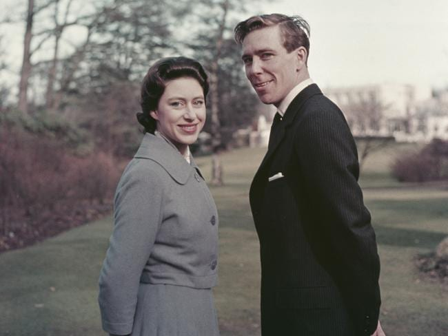 Princess Margaret and Antony Armstrong-Jones pictured after announcing their engagement in 1960. Picture: Rolls Press/Popperfoto/Getty Images