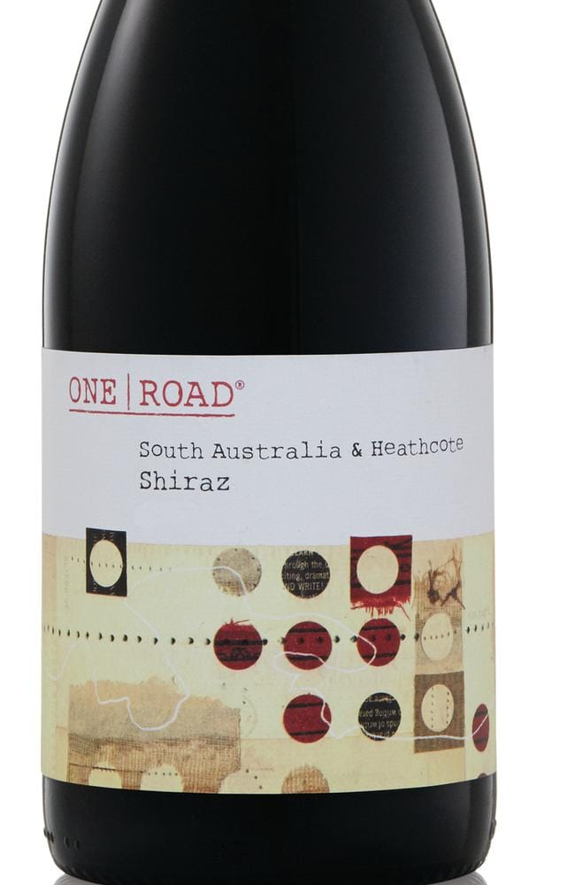 The label to look for ... the One Road Shiraz is a winner at $6.99. Picture: Supplied
