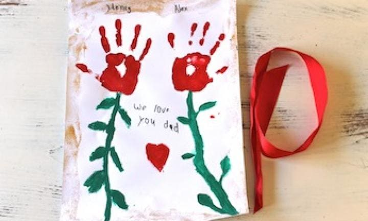 Father's Day: make a handprint scroll artwork