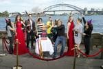 Madame Tussauds Sydney Celebrates Its First Birthday at Mrs Macquaries Chair. Miranda Kerr, Eric Bana, Danni Minogue, Lleyton Hewitt, Keith Urban and Nicole Kidman.