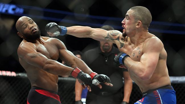 Robert Whittaker (right) fights Cuban Yoel Romero for the middleweight title. Picture: Sam Ruttyn