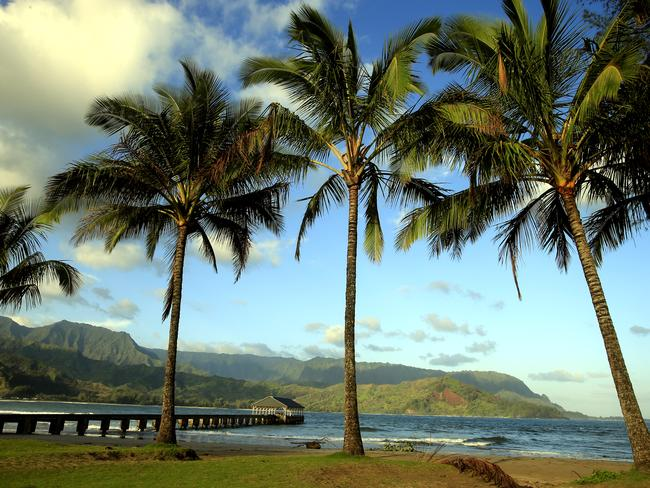 Hanalei Bay on Kauai's North Shore. Picture: Mark Boster