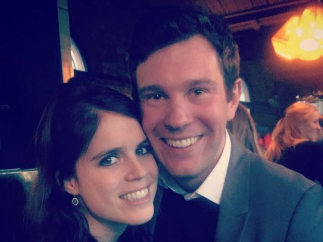 The Royal Family announce the engagement of Princess Eugenie and Jack Brooksbank on Twitter. Picture: Twitter