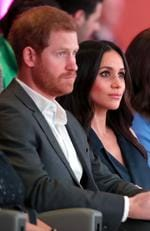 Prince Harry and Meghan Markle attend the first annual Royal Foundation Forum held at Aviva on February 28, 2018 in London, England. Picture: Chris Jackson/Getty Images
