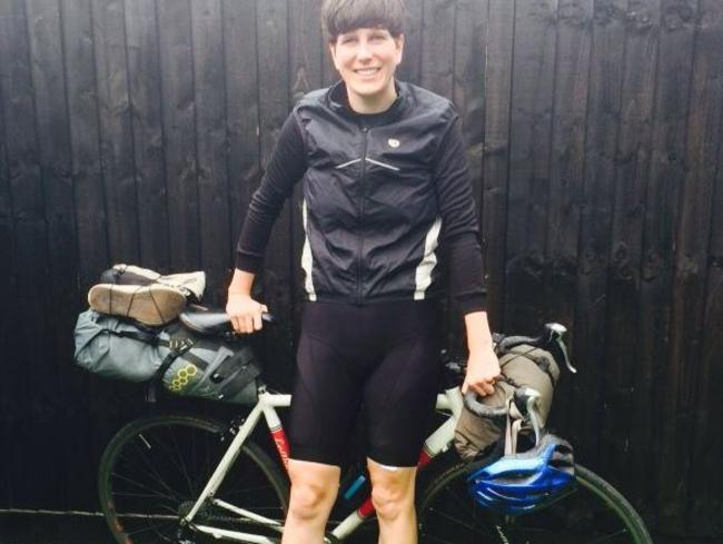 Michelle McGagh used her bike as her only means of transport. Picture: Twitter/Michelle McGagh