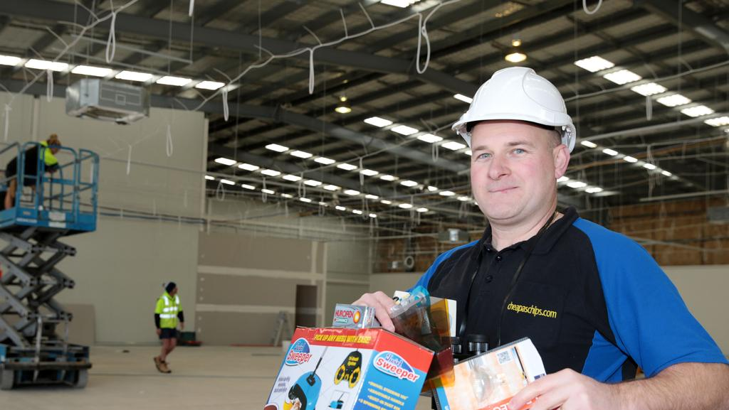 Cheap as Chips area manager Simon Greig at the Bell Post Hill store under  construction.
