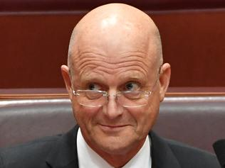 Liberal Democratic Party Senator David Leyonhjelm during Senate Question Time at Parliament House in Canberra, Wednesday, Feb. 8, 2017. (AAP Image/Mick Tsikas) NO ARCHIVING
