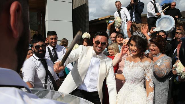 The couple's lavish wedding catapulted them to national stardom but Mehajer is now facing charges for allegedly breaching an AVO taken out by his estranged wife. Picture: Toby Zerna