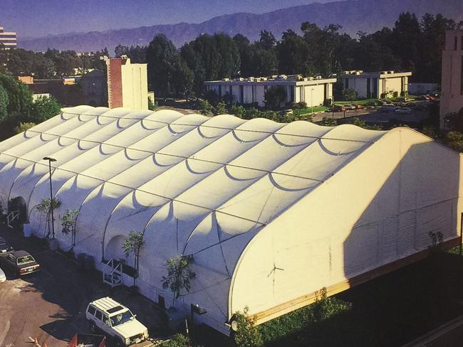 Now that's a trailer! The Jordan Dome, where Michael Jordan trained while filming 'Space Jam'. Picture: Warner Bros.