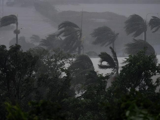 Strong winds and rain lash Airlie Beach. Picture: Dan Peled/AAP