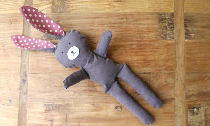 Upcycled bunny doll